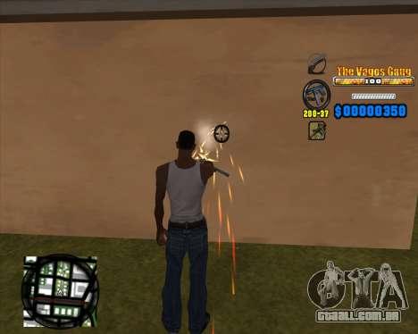 C-HUD Los Santos Vagos Gang para GTA San Andreas terceira tela