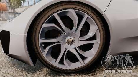 Jaguar C-X75 [EPM] Carbon Series para GTA 4 vista de volta