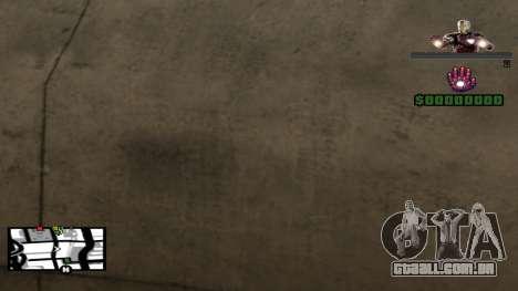 C-HUD Iron Man para GTA San Andreas terceira tela