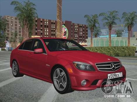 Mercedes-Benz C63 AMG HQLM para GTA San Andreas vista interior