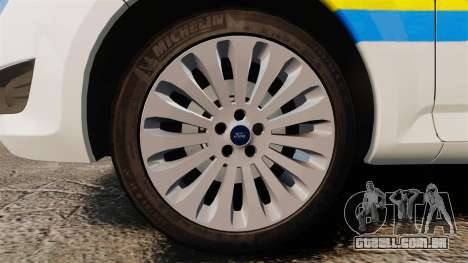 Ford Mondeo Croatian Police [ELS] para GTA 4 vista de volta