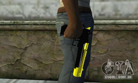 Yellow Desert Eagle para GTA San Andreas terceira tela