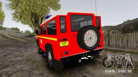 Land Rover Defender VLHR SDIS 42 [ELS] para GTA 4 traseira esquerda vista