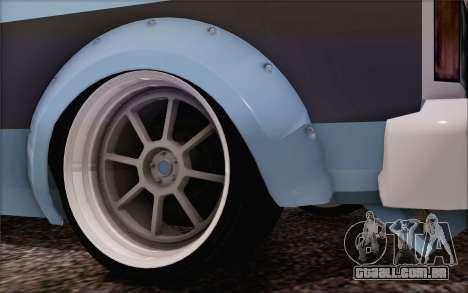 Regina Widebody V8 para GTA San Andreas traseira esquerda vista