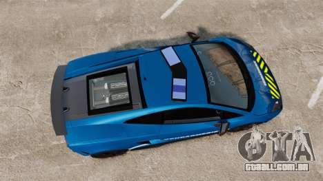 Lamborghini Gallardo Gendarmerie National [ELS] para GTA 4 vista direita