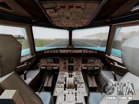 Airbus A320 Air China para GTA San Andreas vista direita