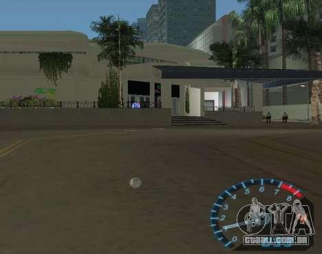 O velocímetro de NFS Underground para GTA Vice City por diante tela