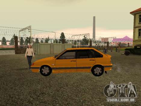 VAZ 2114 para GTA San Andreas traseira esquerda vista