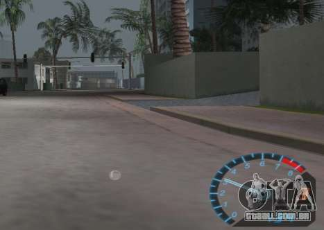O velocímetro de NFS Underground para GTA Vice City terceira tela