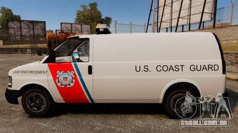 Vapid Speedo U.S. Coast Guard para GTA 4 esquerda vista