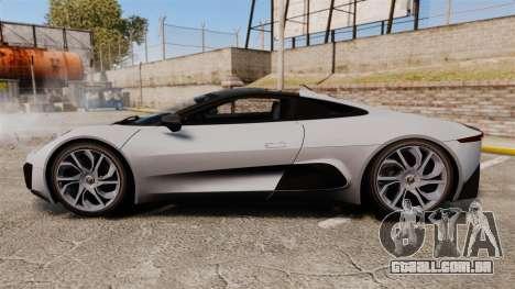 Jaguar C-X75 [EPM] Carbon Series para GTA 4 esquerda vista