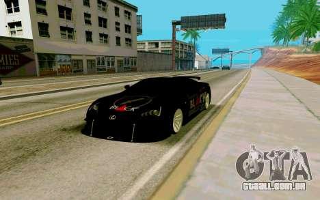 Lexus LFA Street Edition Djarum Black para GTA San Andreas vista direita
