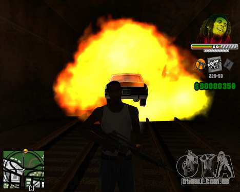 C-HUD Bob Marley para GTA San Andreas terceira tela