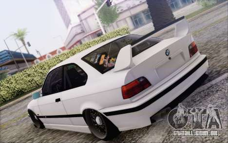 BMW M3 E36 Hellaflush para GTA San Andreas esquerda vista