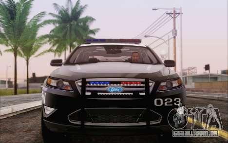 Ford Taurus Police para GTA San Andreas traseira esquerda vista