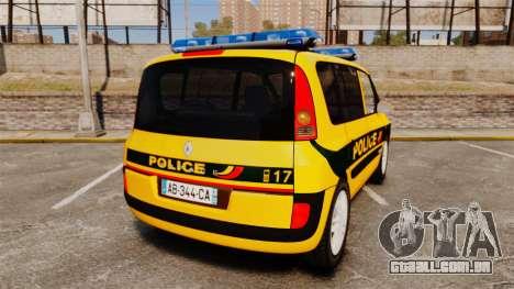 Renault Espace Police Nationale [ELS] para GTA 4 traseira esquerda vista