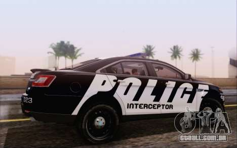 Ford Taurus Police para GTA San Andreas esquerda vista