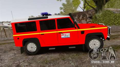 Land Rover Defender VLHR SDIS 42 [ELS] para GTA 4 esquerda vista