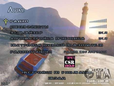 New Menu GTA 5 para GTA San Andreas sexta tela