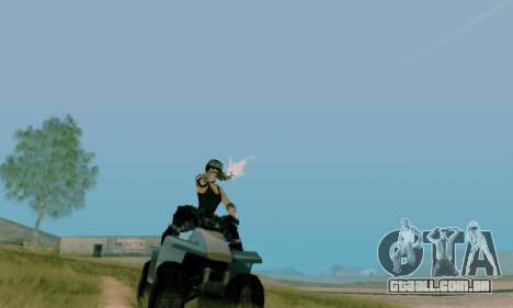 SWAT GIRL para GTA San Andreas por diante tela