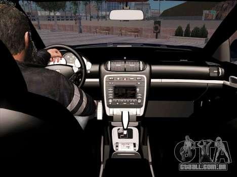 Porsche Cayenne Turbo S 2010 Stock para GTA San Andreas vista inferior