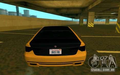 Ubermacht Oracle из GTA para GTA San Andreas traseira esquerda vista