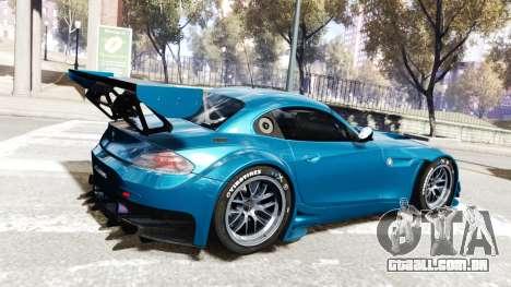 BMW Z4 GT3 2012 para GTA 4 vista de volta