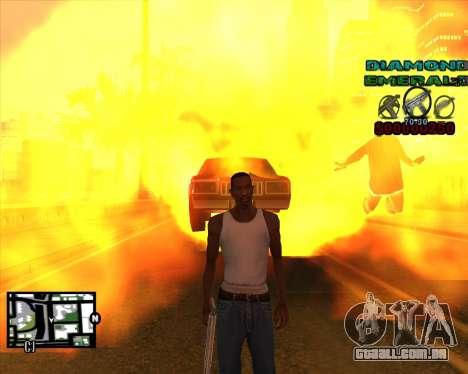 C-HUD Diamond Emerald para GTA San Andreas terceira tela
