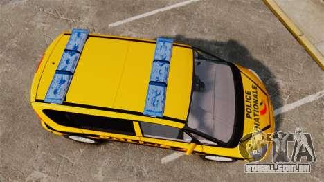 Renault Espace Police Nationale [ELS] para GTA 4 vista direita