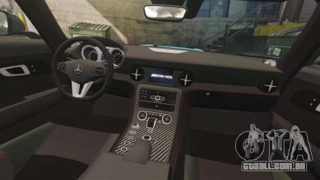 Mercedes-Benz SLS 2014 AMG Black Series Area 27 para GTA 4 vista lateral