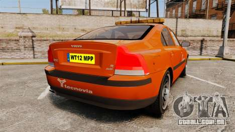 Volvo S60 tecnovia [ELS] para GTA 4 traseira esquerda vista