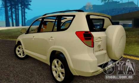 Toyota RAV4 para GTA San Andreas traseira esquerda vista
