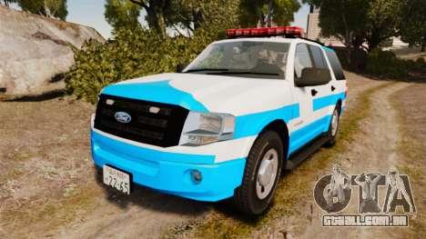Ford Expedition Japanese Police SSV v2.5F [ELS] para GTA 4