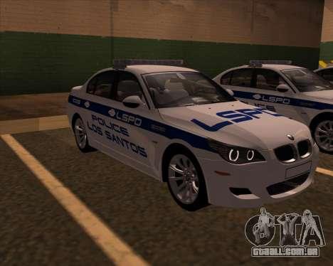 BMW M5 E60 Police LS para GTA San Andreas vista direita
