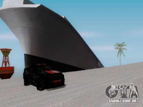 Naufrágio para GTA San Andreas por diante tela