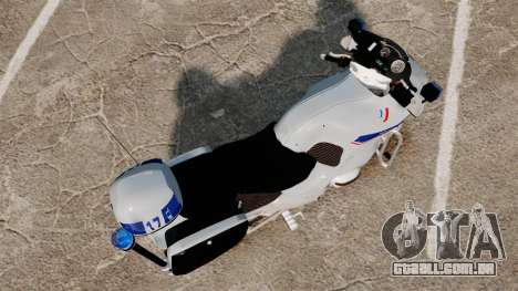 BMW R1150RT Police nationale [ELS] v2.0 para GTA 4 vista direita