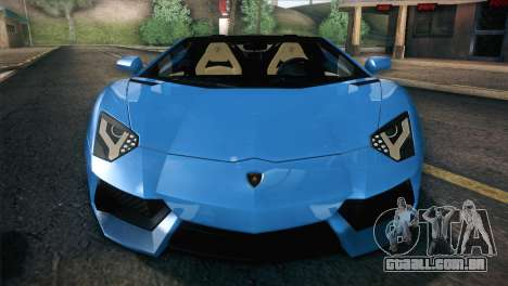 Lamborghini Aventador Roadster para GTA San Andreas vista inferior