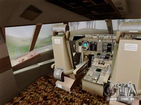 Boeing 747 Air India para vista lateral GTA San Andreas