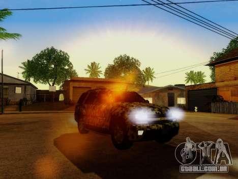 Chevrolet TrailBlazer Army para GTA San Andreas vista superior