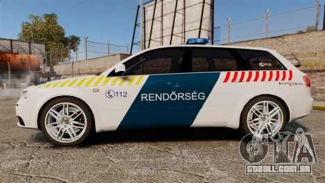 Audi S4 Avant Hungarian Police [ELS] para GTA 4 esquerda vista