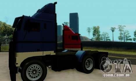 Hauler GTA V para GTA San Andreas vista traseira