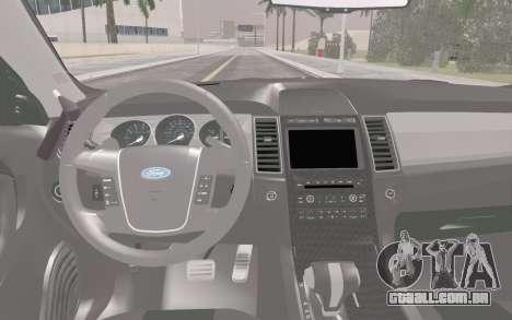 Ford Taurus Police para vista lateral GTA San Andreas