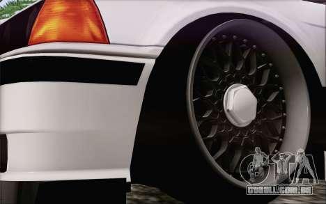 BMW M3 E36 Hellaflush para GTA San Andreas traseira esquerda vista