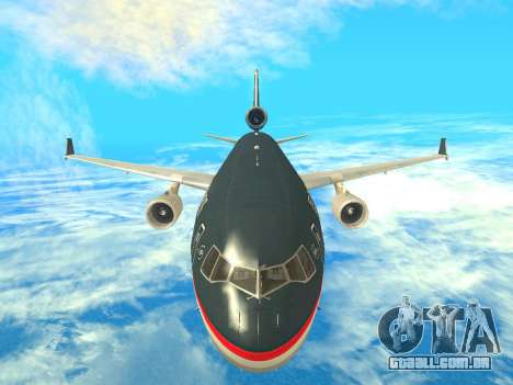 McDonnell Douglas MD-11 US Airways para GTA San Andreas vista interior