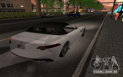Benefactor Surano GTA V para GTA San Andreas esquerda vista