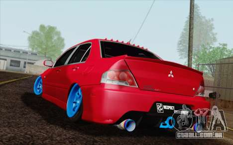 Mitsubishi Lancer MR Edition para GTA San Andreas esquerda vista