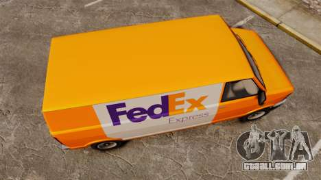 Brute Pony FedEx Express para GTA 4 vista direita