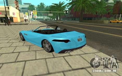 Benefactor Surano GTA V para GTA San Andreas traseira esquerda vista