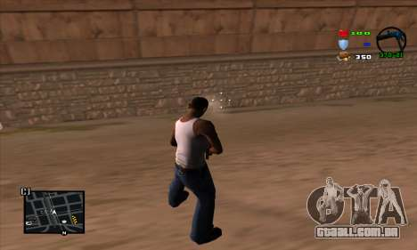 C-HUD Lite para GTA San Andreas por diante tela