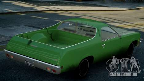 Chevrolet El Camino 1973 Old para GTA 4 vista superior